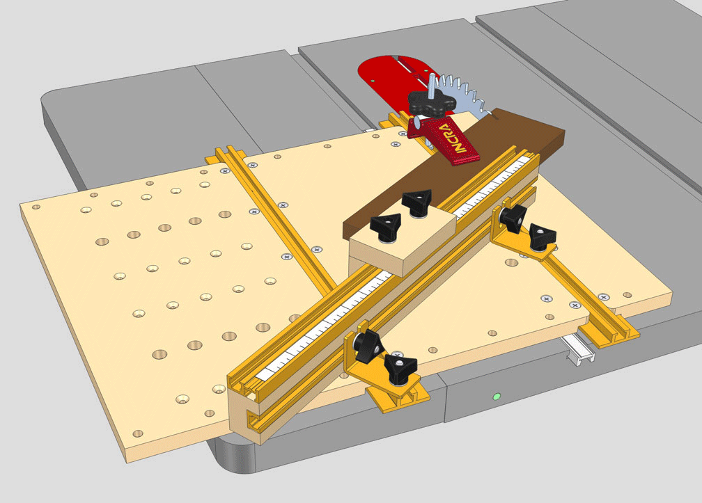 Adjustable Angle Crosscut Jig (007)