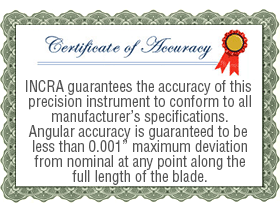 Certificate of Accuracy